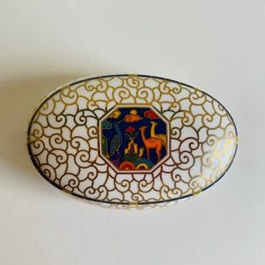 Fine bone china jewelry box